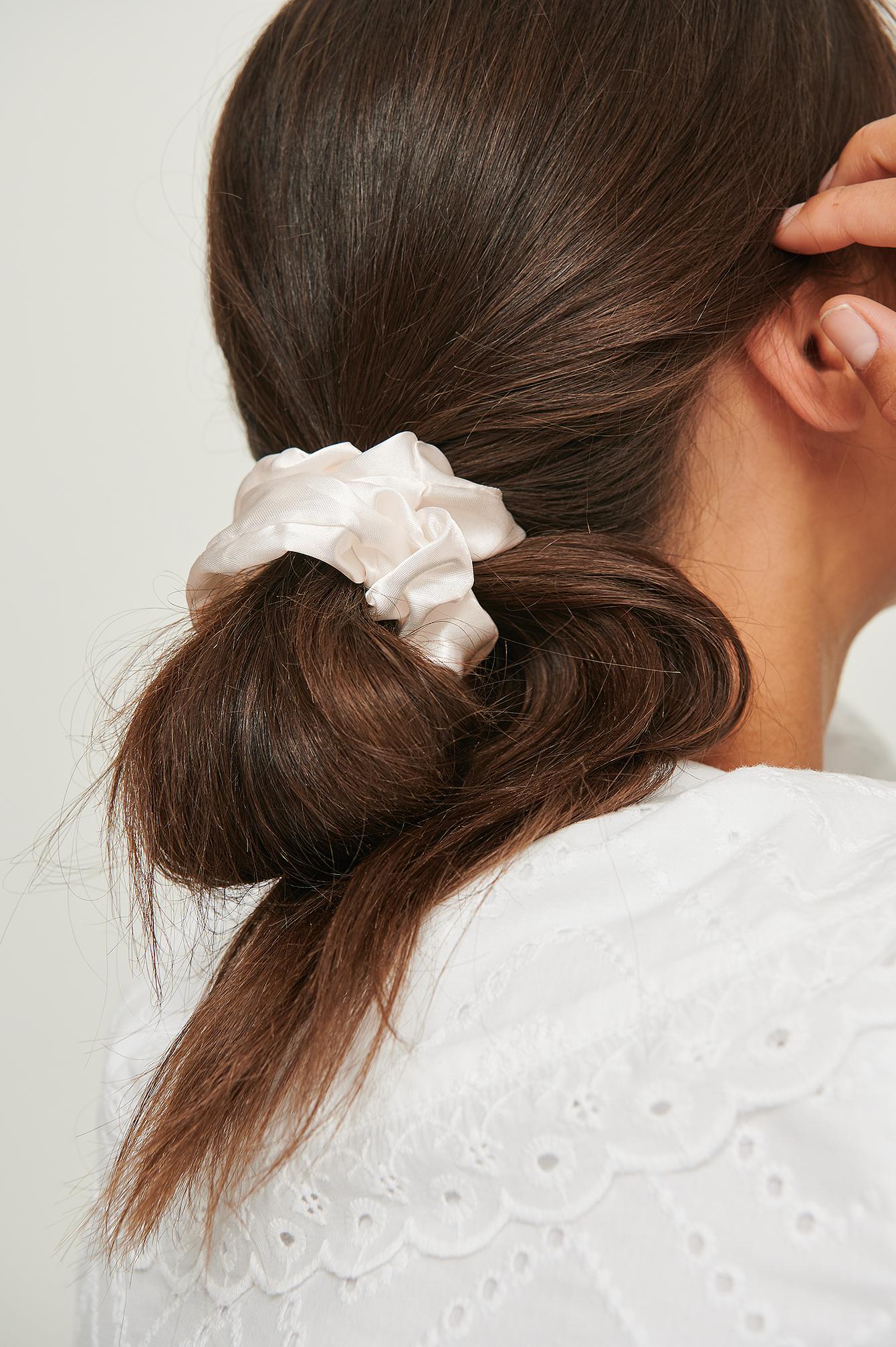 na-kd accessories -  3Er-Pack Recycelte Scrunchies Aus Satin - Pink