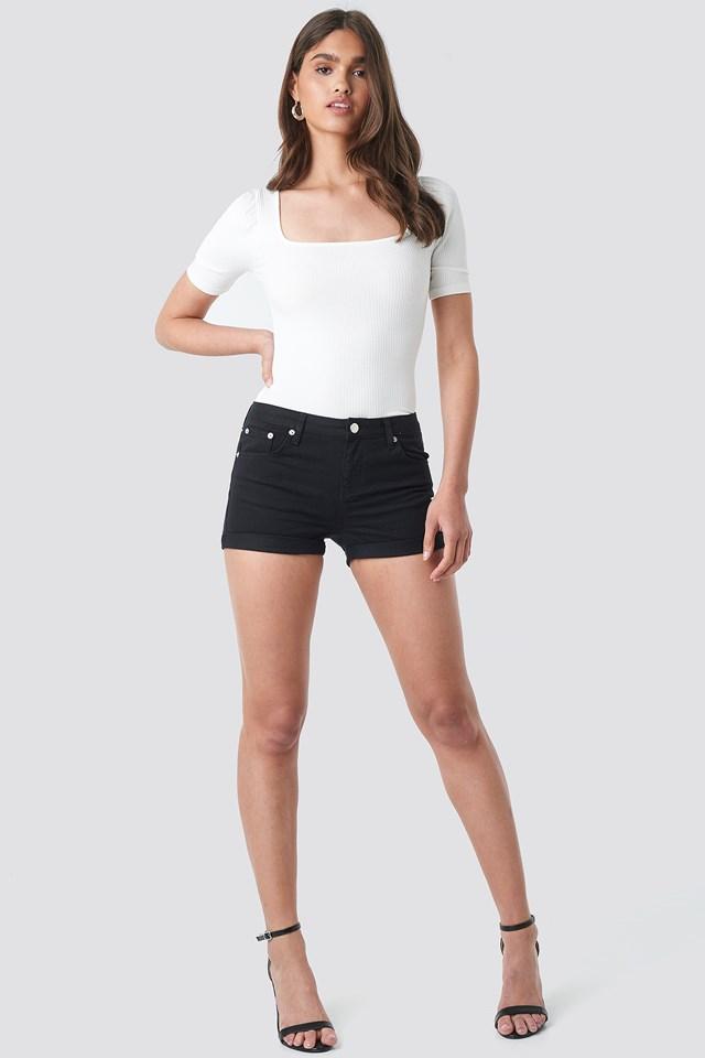 5 Pocket Shorts Black