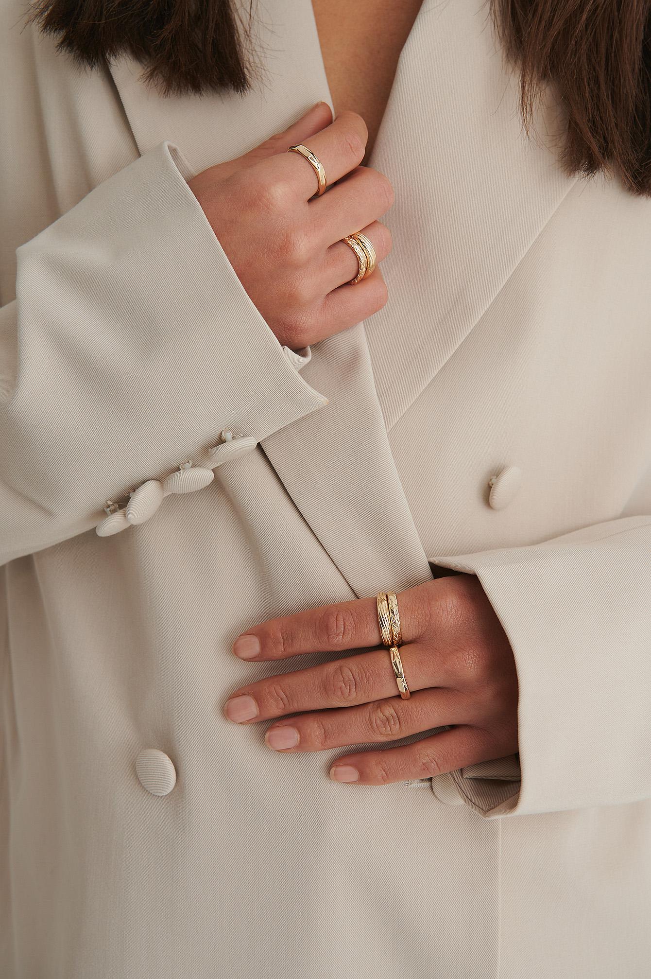 na-kd accessories -  Ringe-Set - Gold
