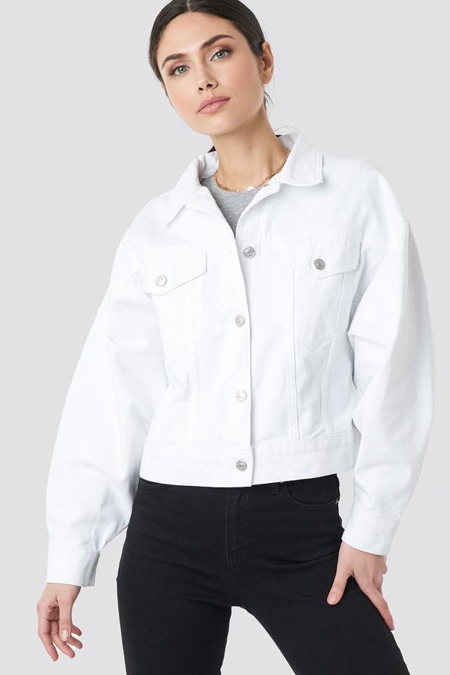 80's Trucker Denim Jacket White