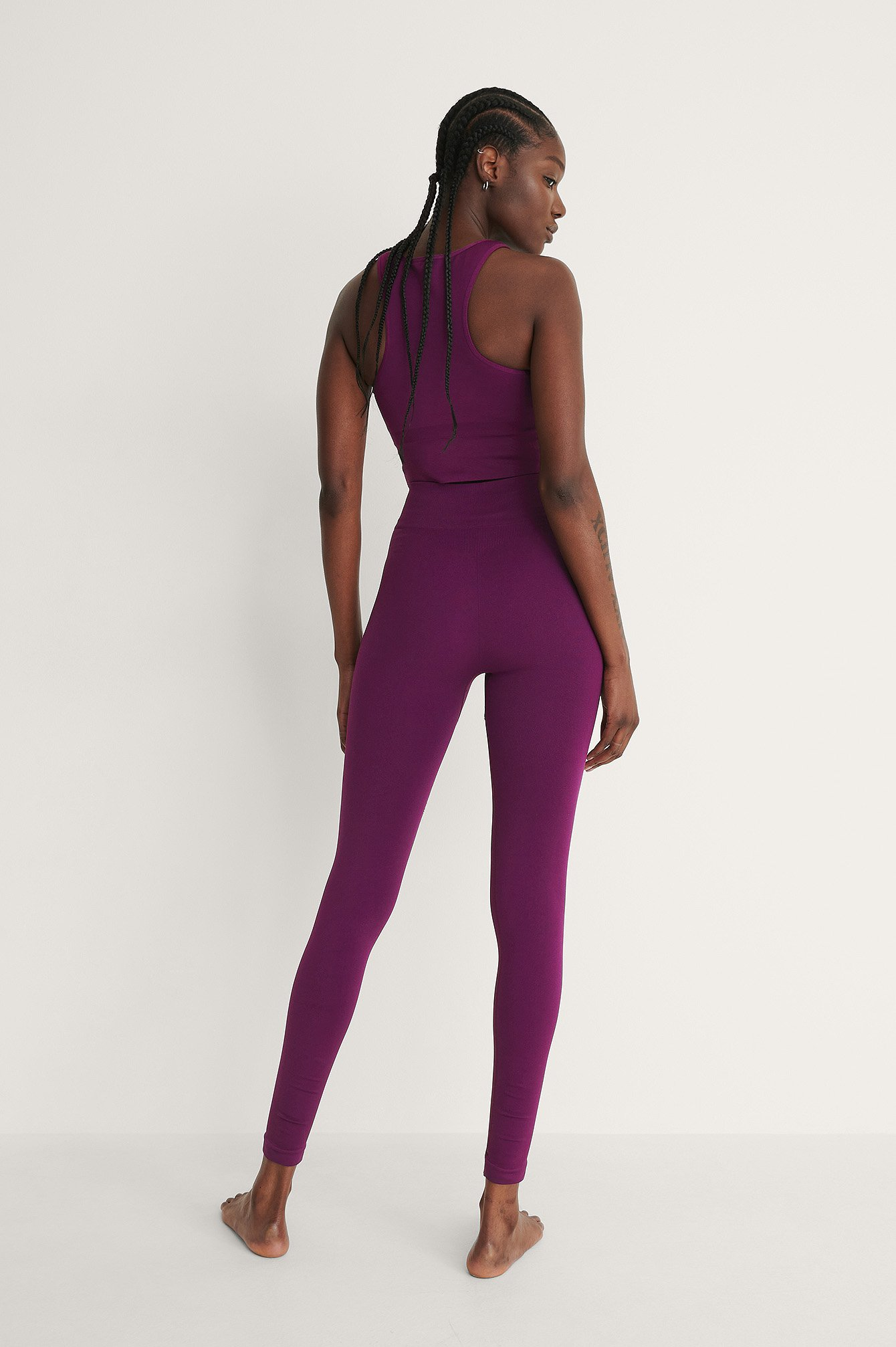 Purple Seamless High Waist Leggings