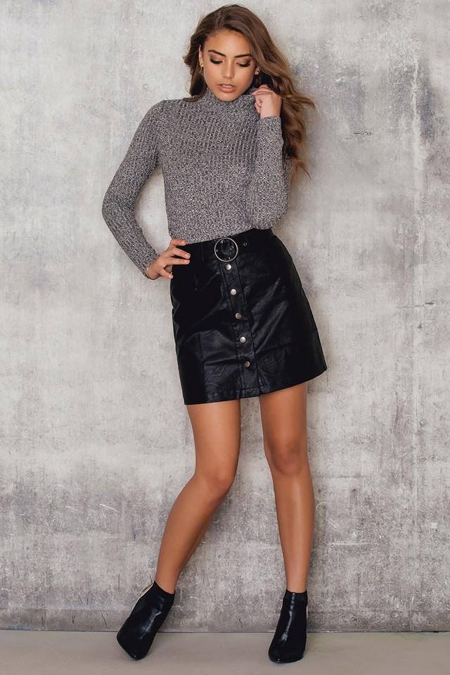 A-line Mini Skirt Black