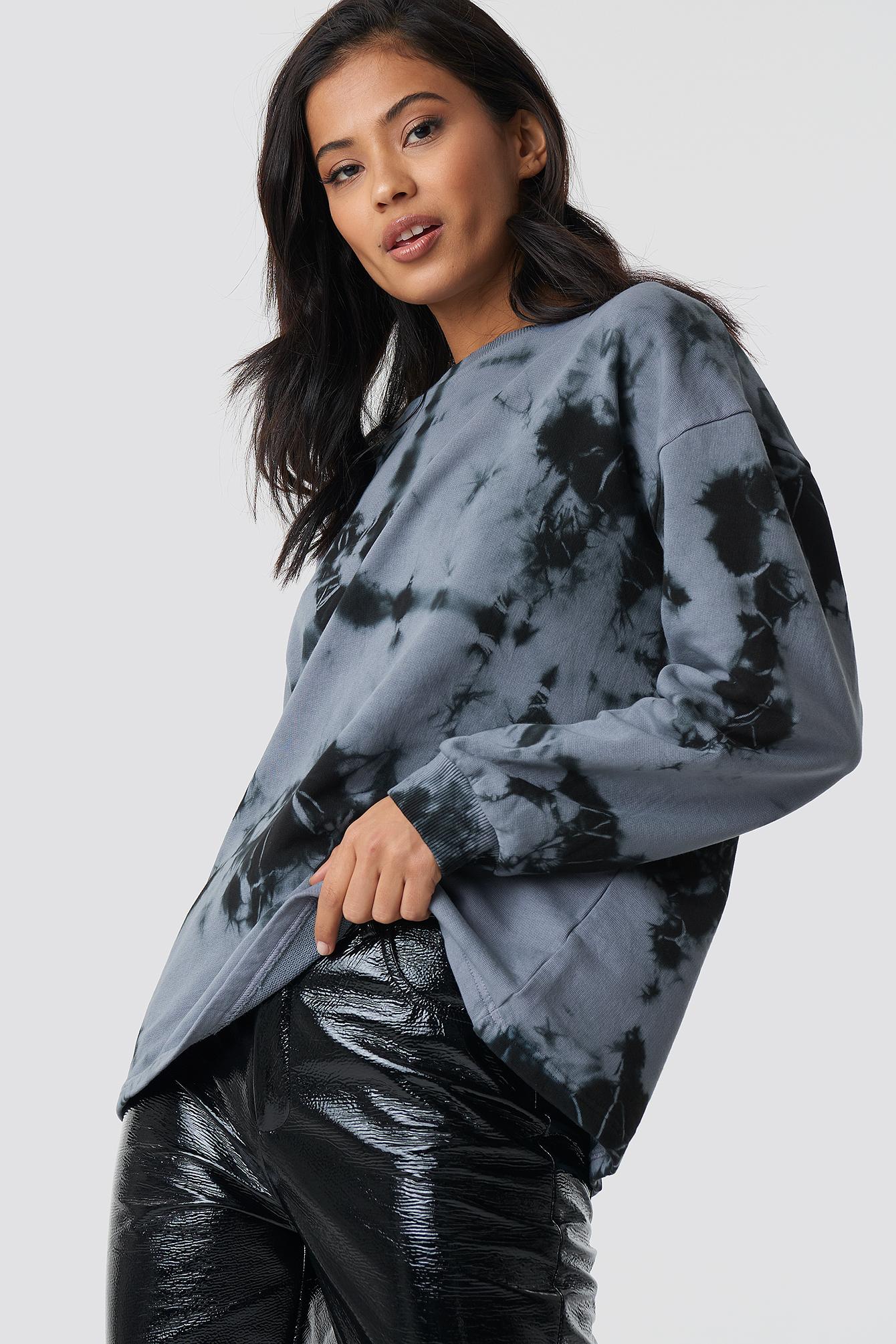 Abstract Print Sweatshirt NA-KD.COM