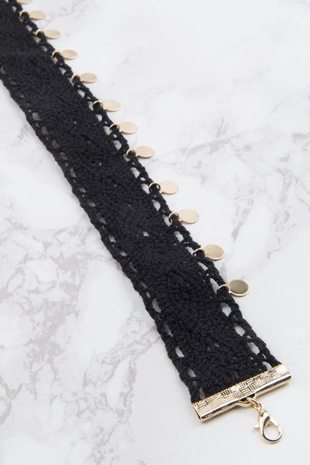 Crochet Flat Bead Choker NA-KD.COM