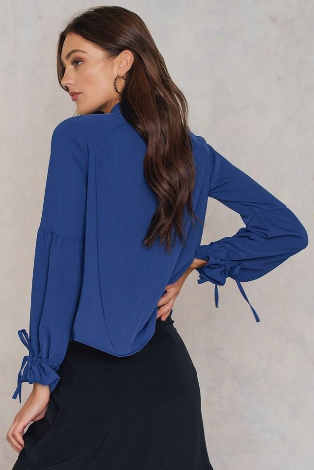 Adina Blouse Dark Blue
