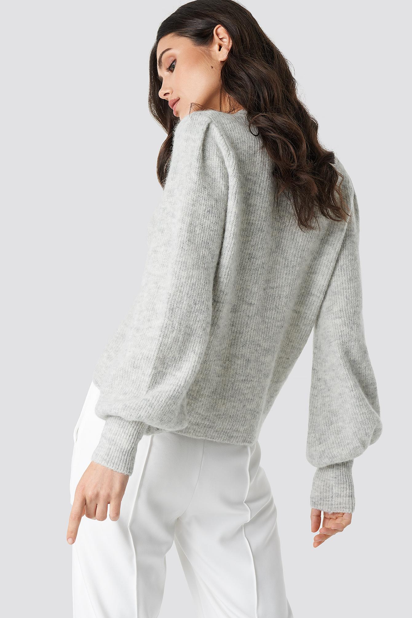 Alpaca Wool Blend Balloon Sleeve Sweater NA-KD.COM