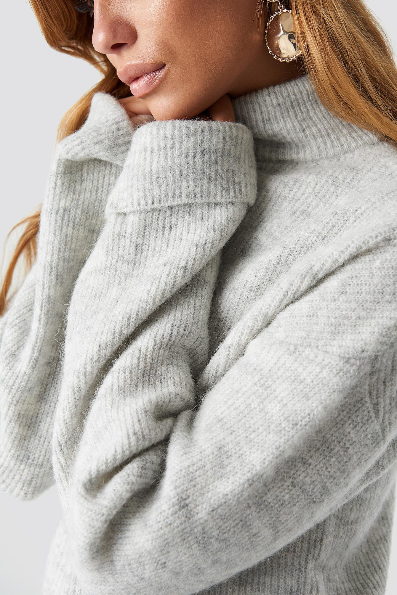 Alpaca Wool Blend High Neck Sweater NA-KD.COM