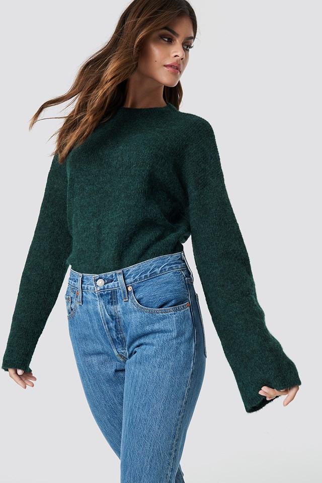 Alpaca Wool Blend Round Neck Sweater NA-KD Trend