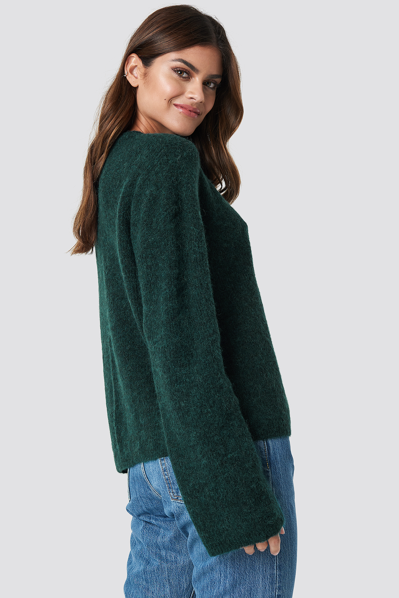 Alpaca Wool Blend Round Neck Sweater NA-KD.COM