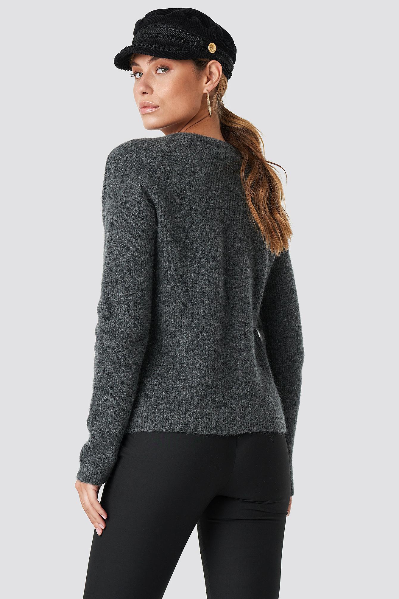 Alpaca Wool Blend V-neck Sweater NA-KD.COM