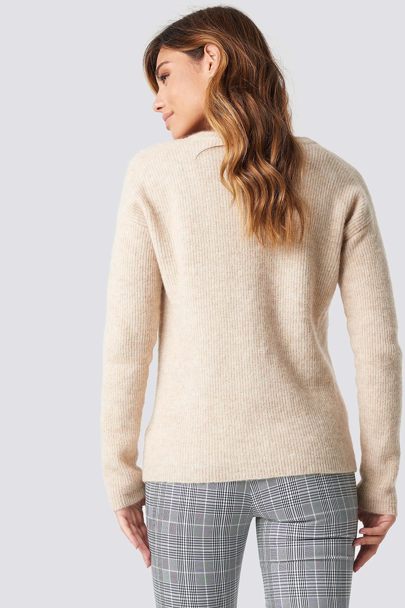 Alpaca Wool Blend V-neck Sweater NA-KD.COM