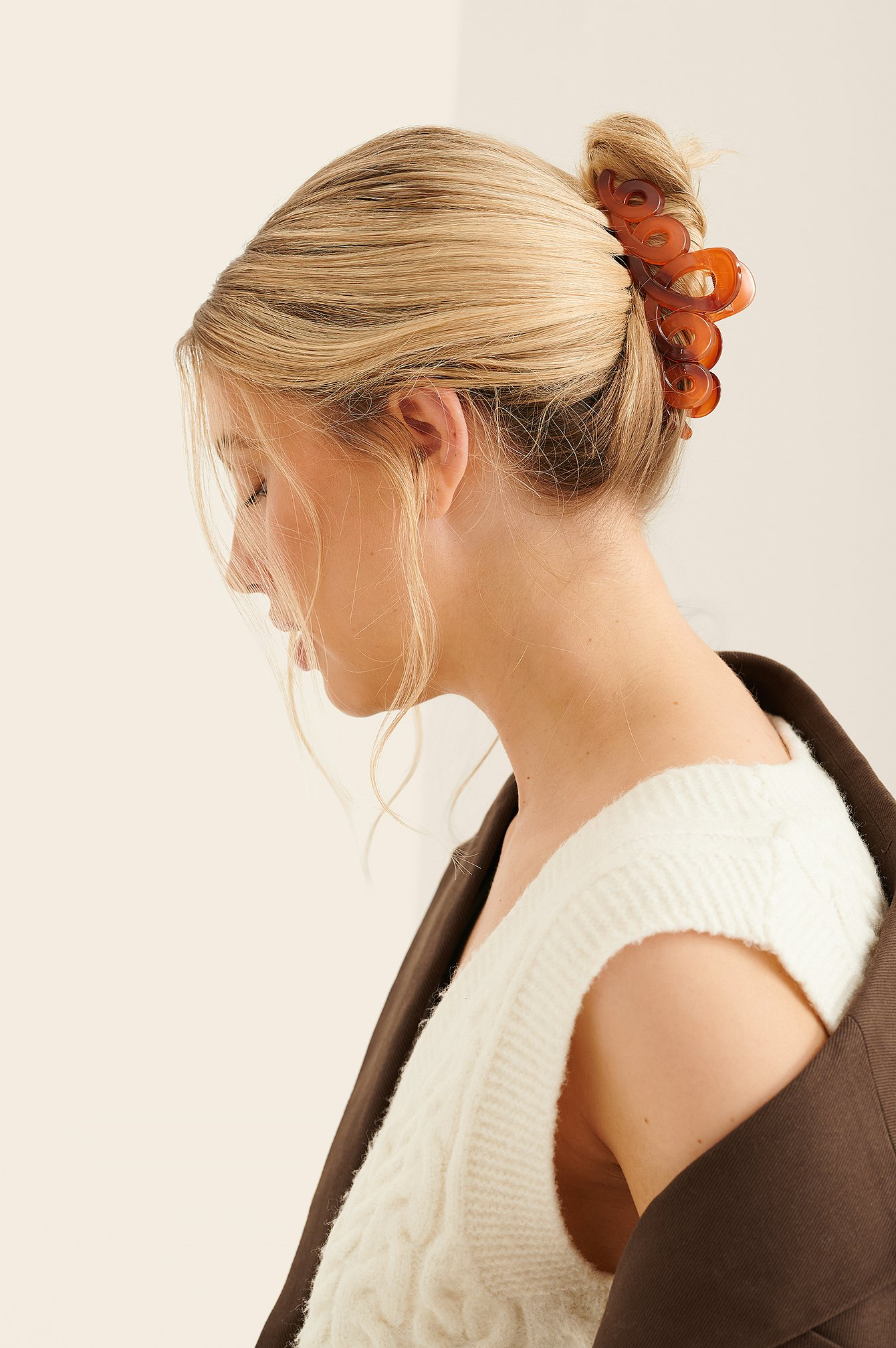 na-kd accessories -  Haarspange Amber - Brown
