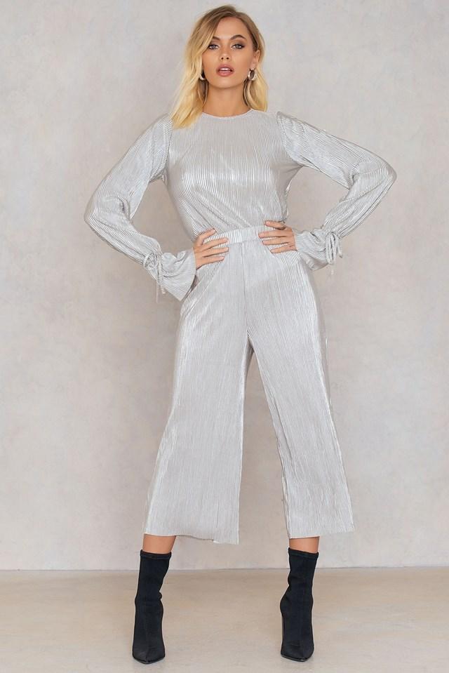 Metallic Culotte Pants Andrea Hedenstedt x NA-KD