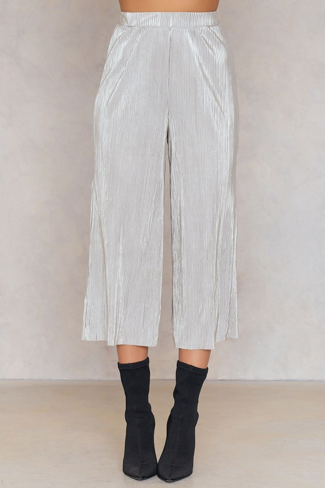 Metallic Culotte Pants NA-KD.COM