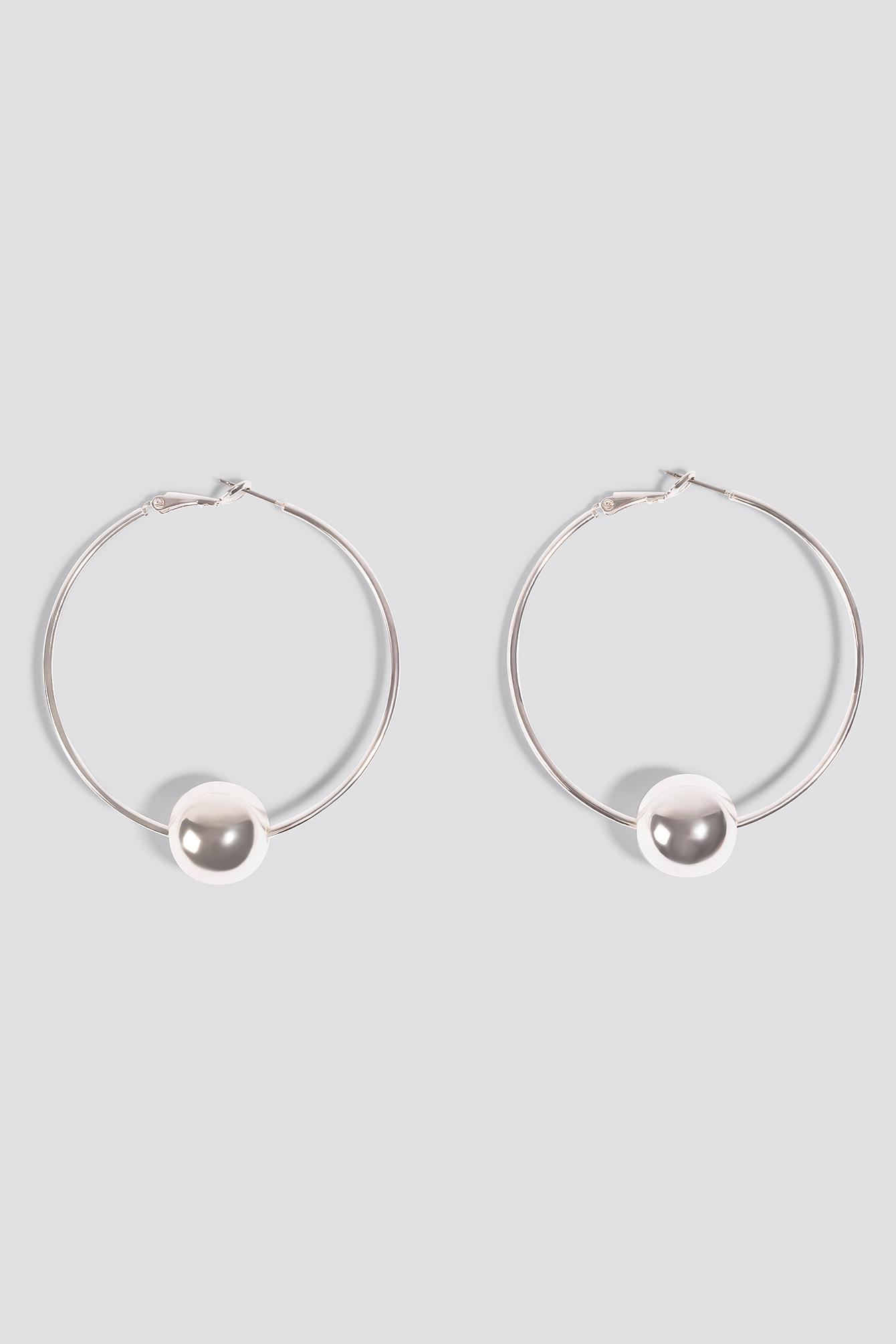 Pearl Hoop Earrings NA-KD.COM