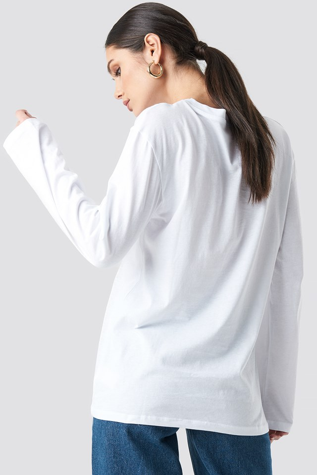 Angel Long Sleeve Tee White