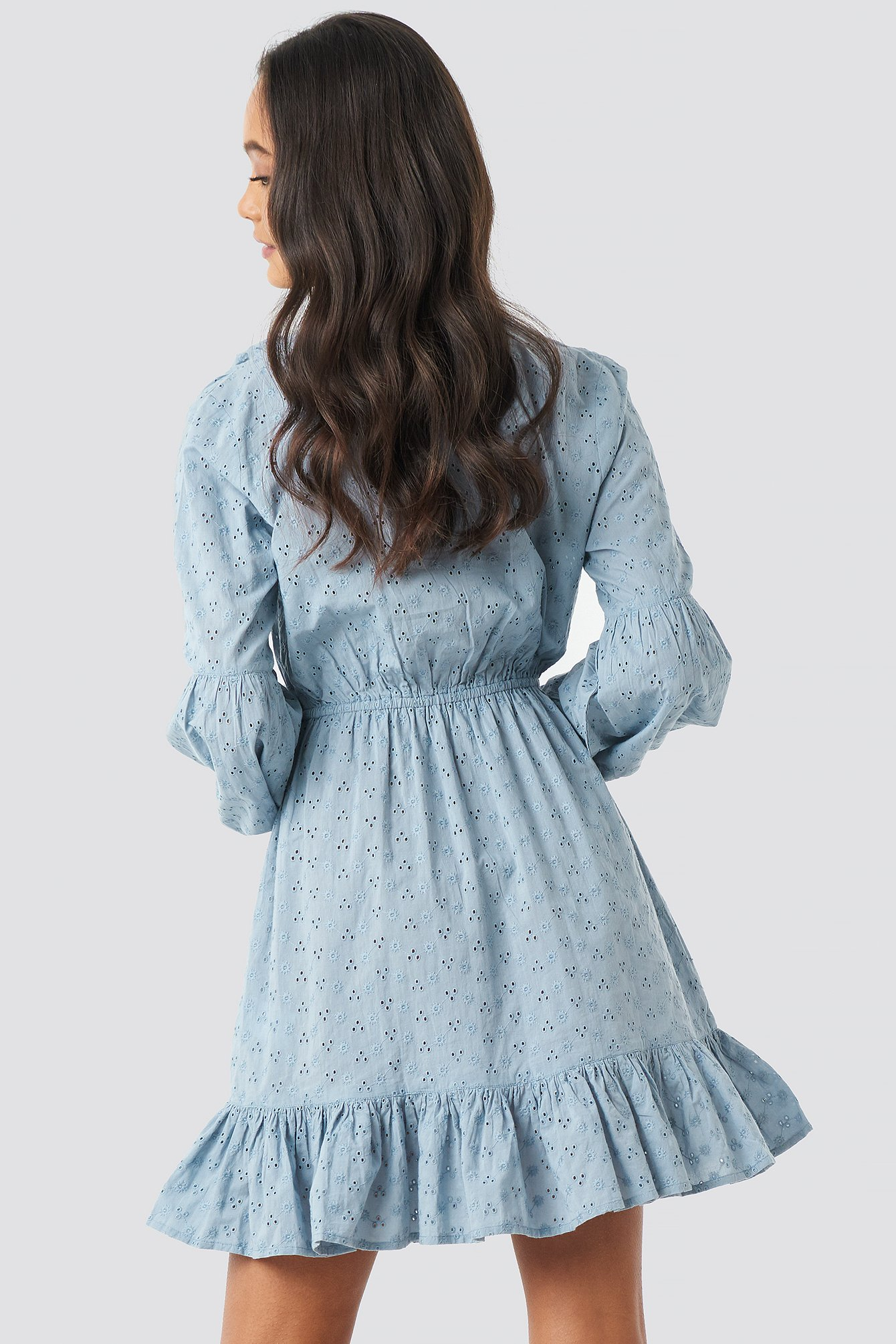 Anglaise Balloon Sleeve Dress NA-KD.COM