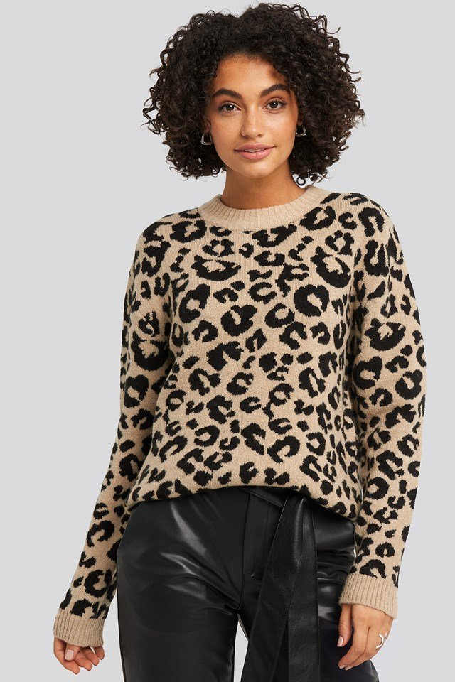 Animal Knitted Leo Sweater NA-KD