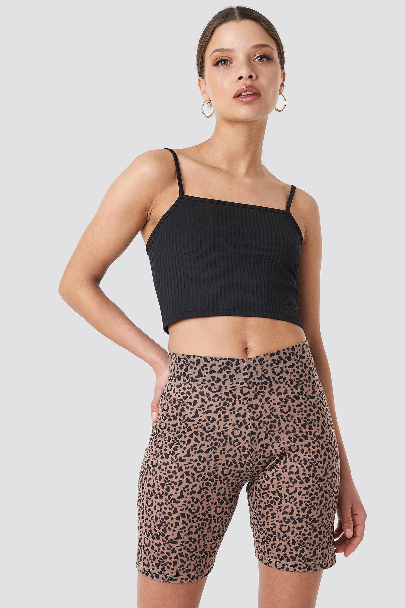 na-kd trend -  Animal Printed Cycle Shorts - Multicolor