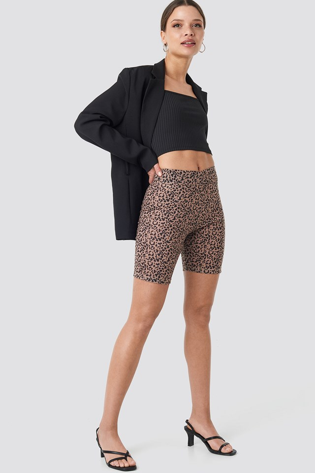 Animal Printed Cycle Shorts Leopard