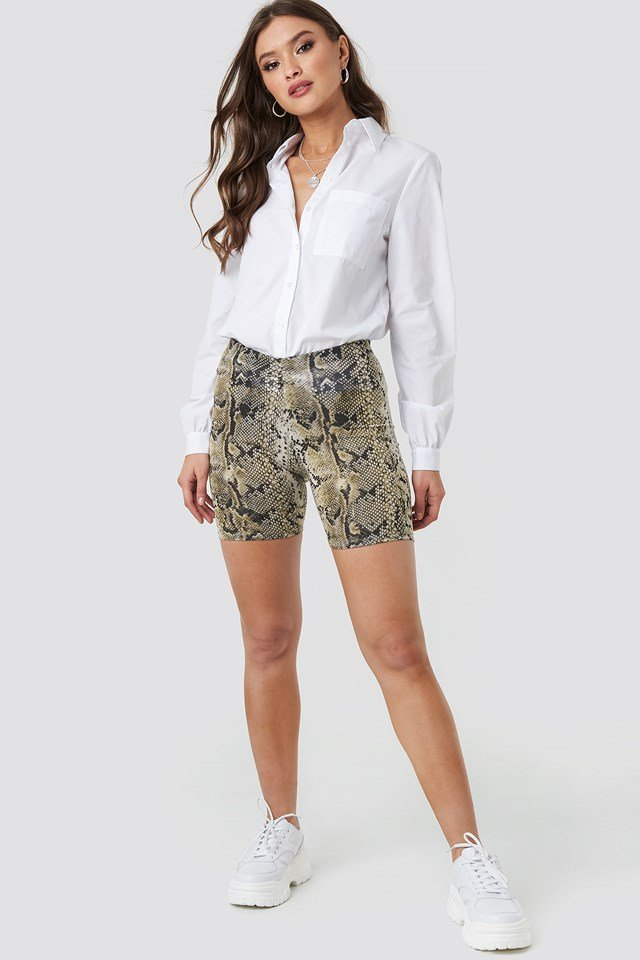Animal Printed Cycle Shorts Snake Print