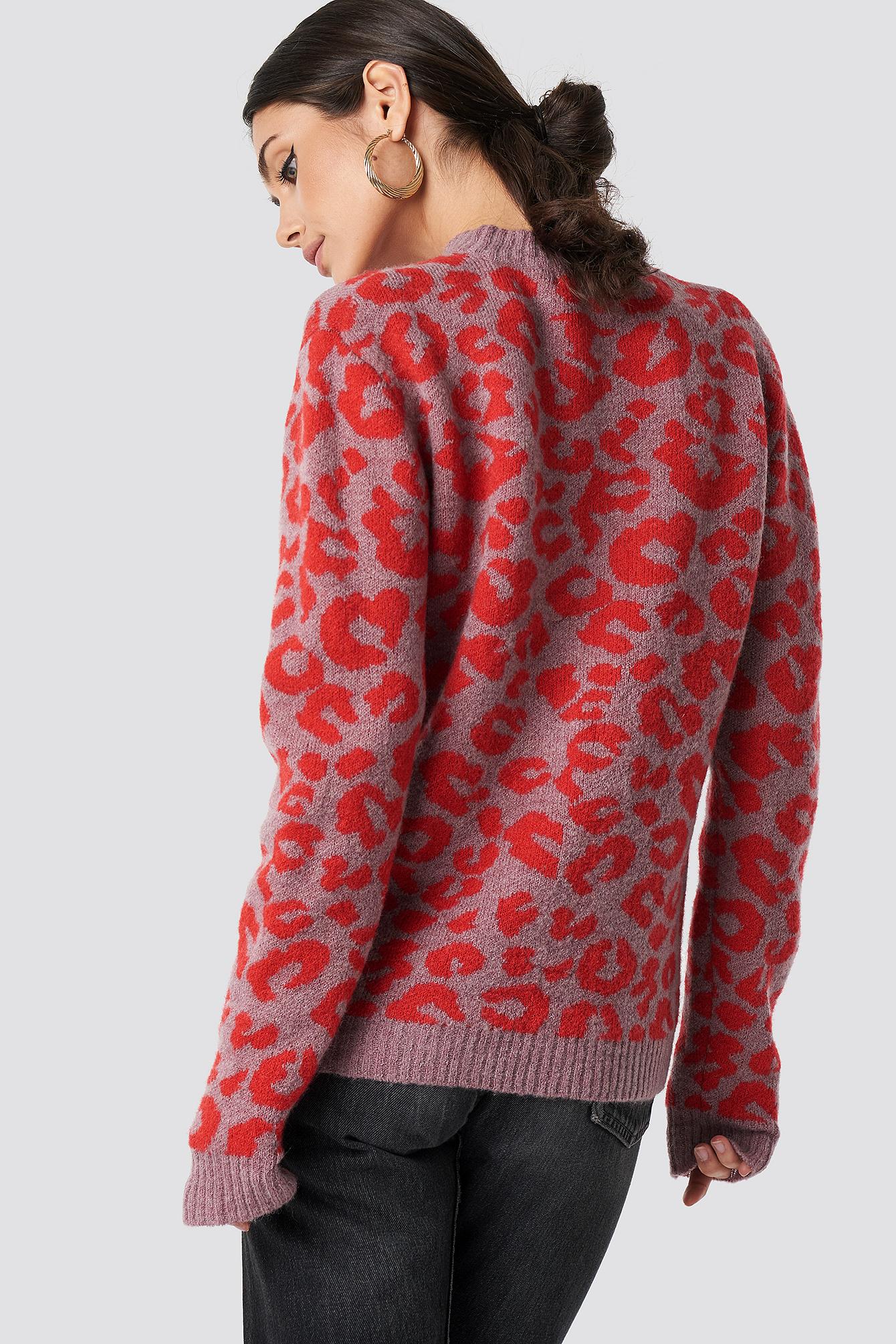 Animal Printed Leo Sweater NA-KD.COM