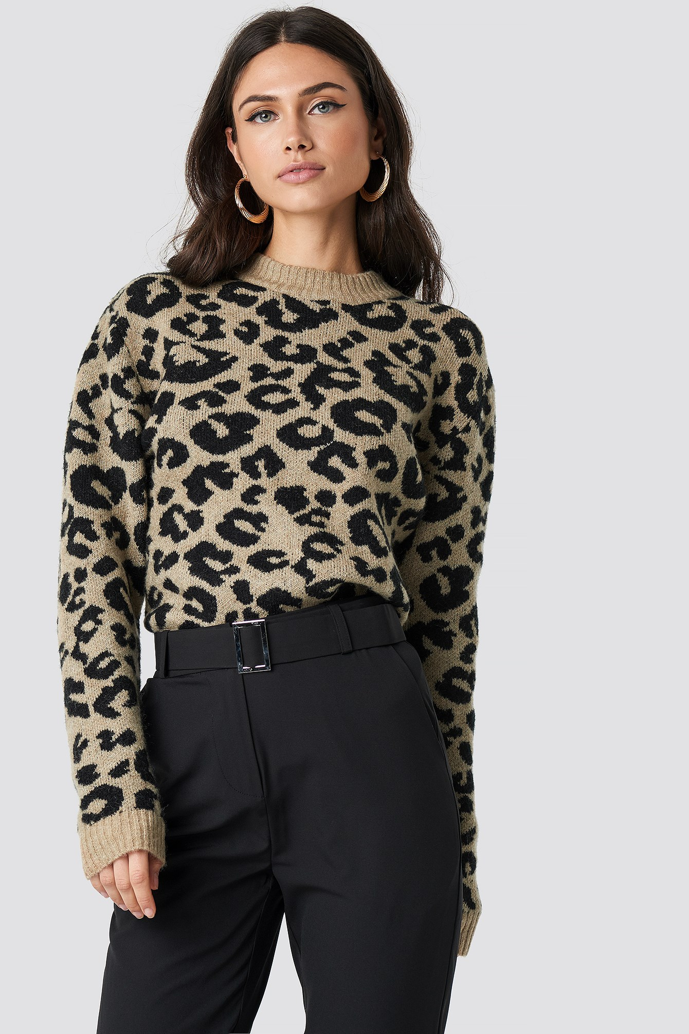 Animal Printed Leo Sweater NA-KD.COM