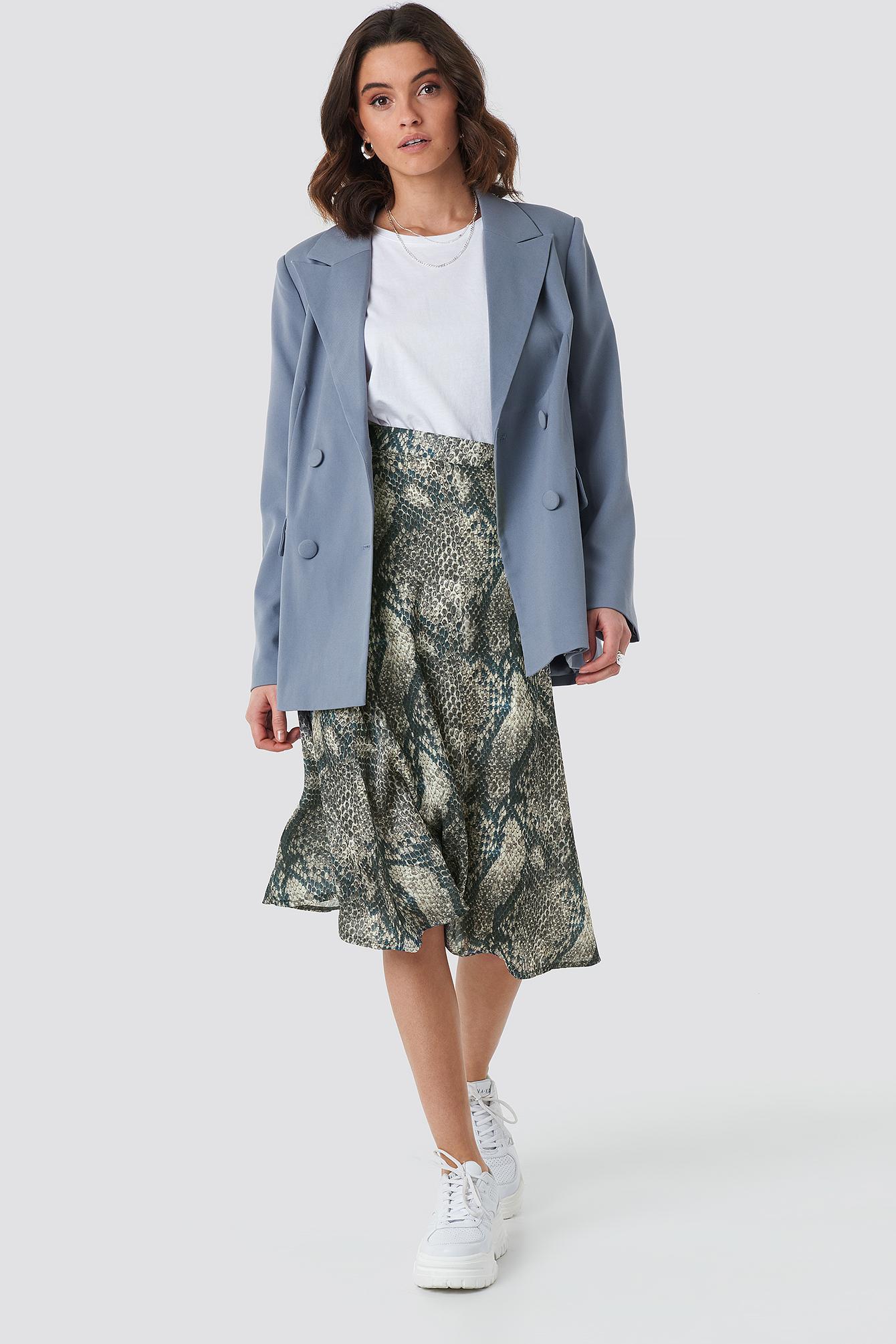 Animal Printed Midi Skirt NA-KD.COM