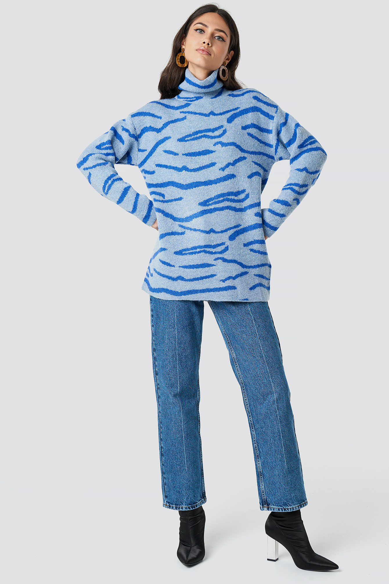 Animal Printed Tiger Sweater NA-KD.COM
