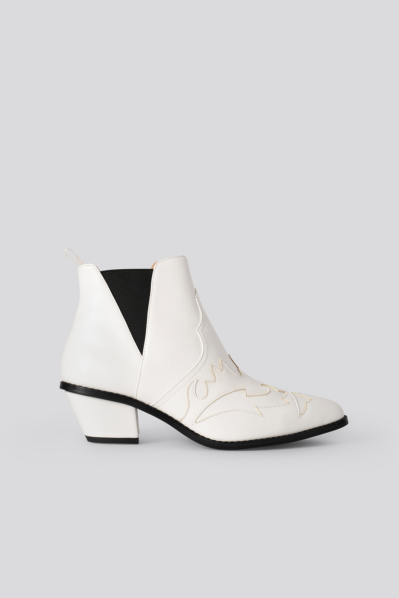 na-kd shoes -  Ankle Cowboy Bootie - White