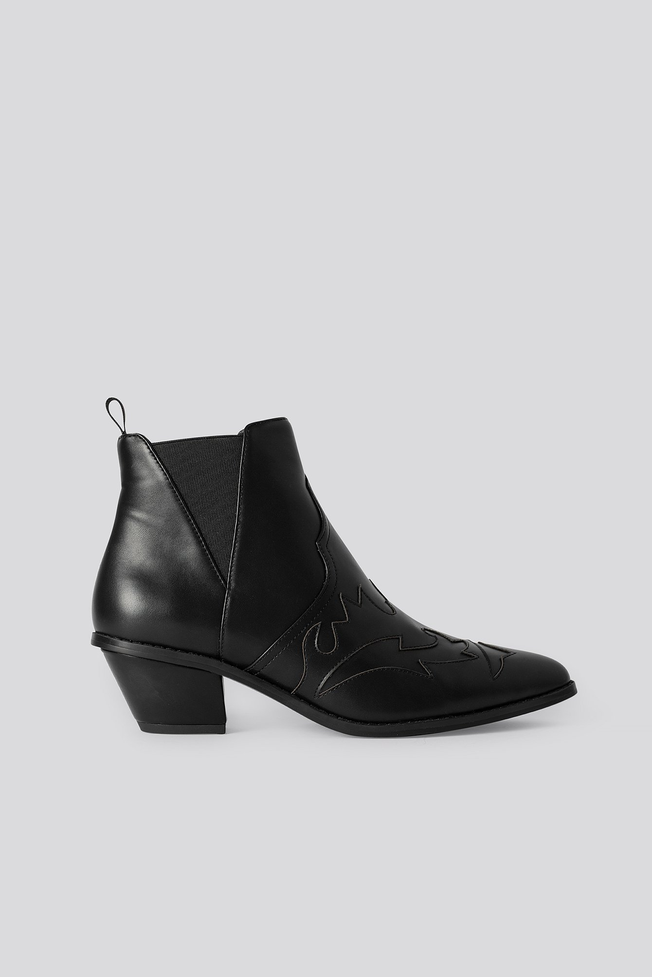 na-kd shoes -  Ankle Cowboy Bootie - Black