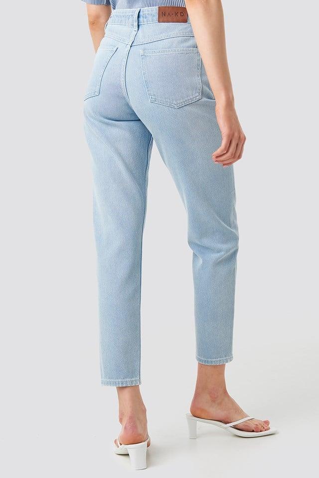 Ankle Mom Jeans Light Blue