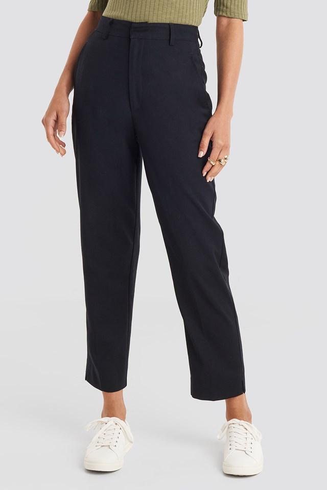 Ankle Suit Pants Black