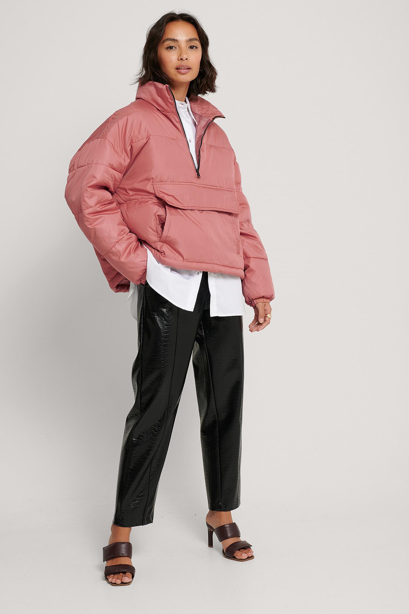na-kd trend -  Gepolsterte Anorak-Jacke - Pink