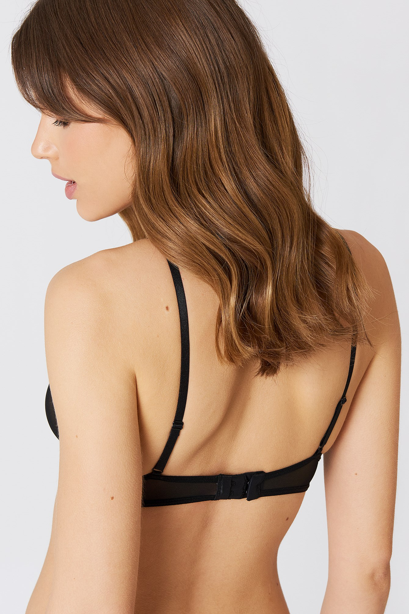 Applique Detail Mesh Bra NA-KD.COM