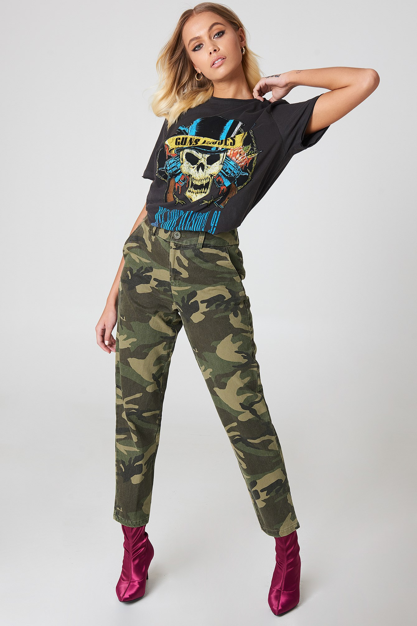 Army Loose Fit Pants NA-KD.COM