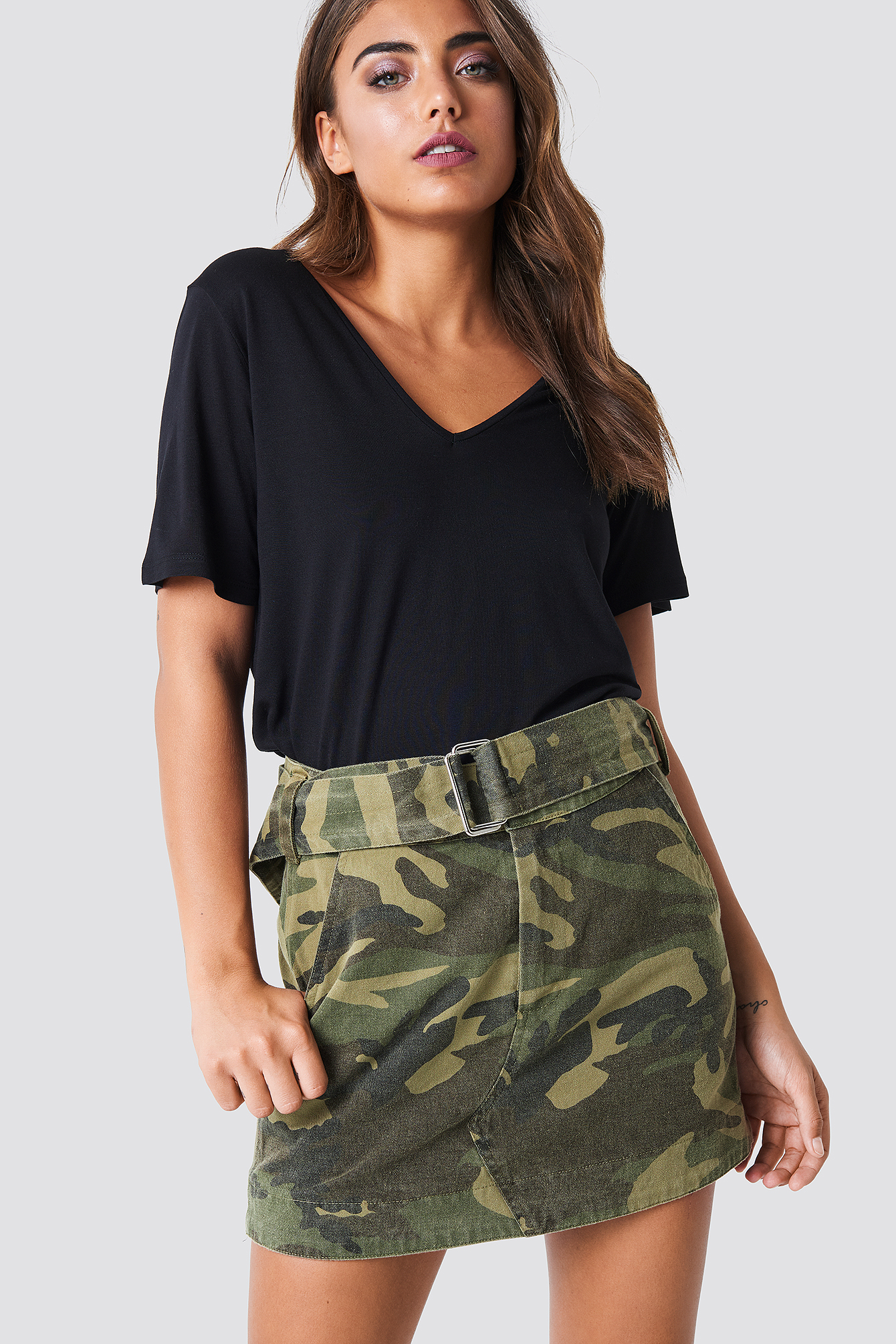 Army Printed Mini Skirt NA-KD.COM