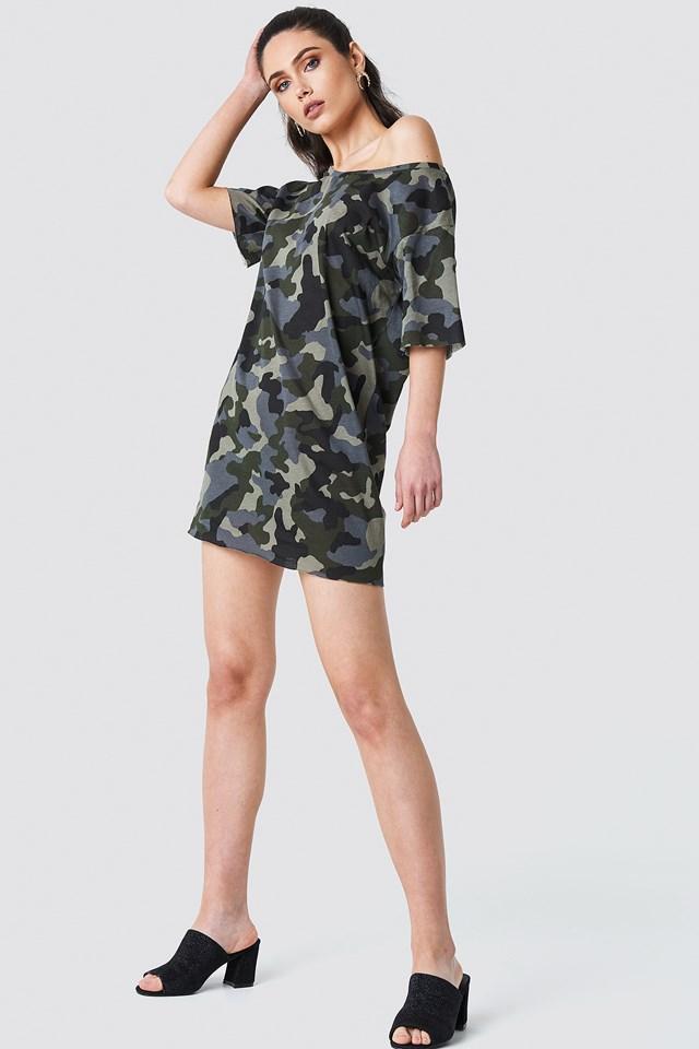 Sukienka T-shirt moro Army