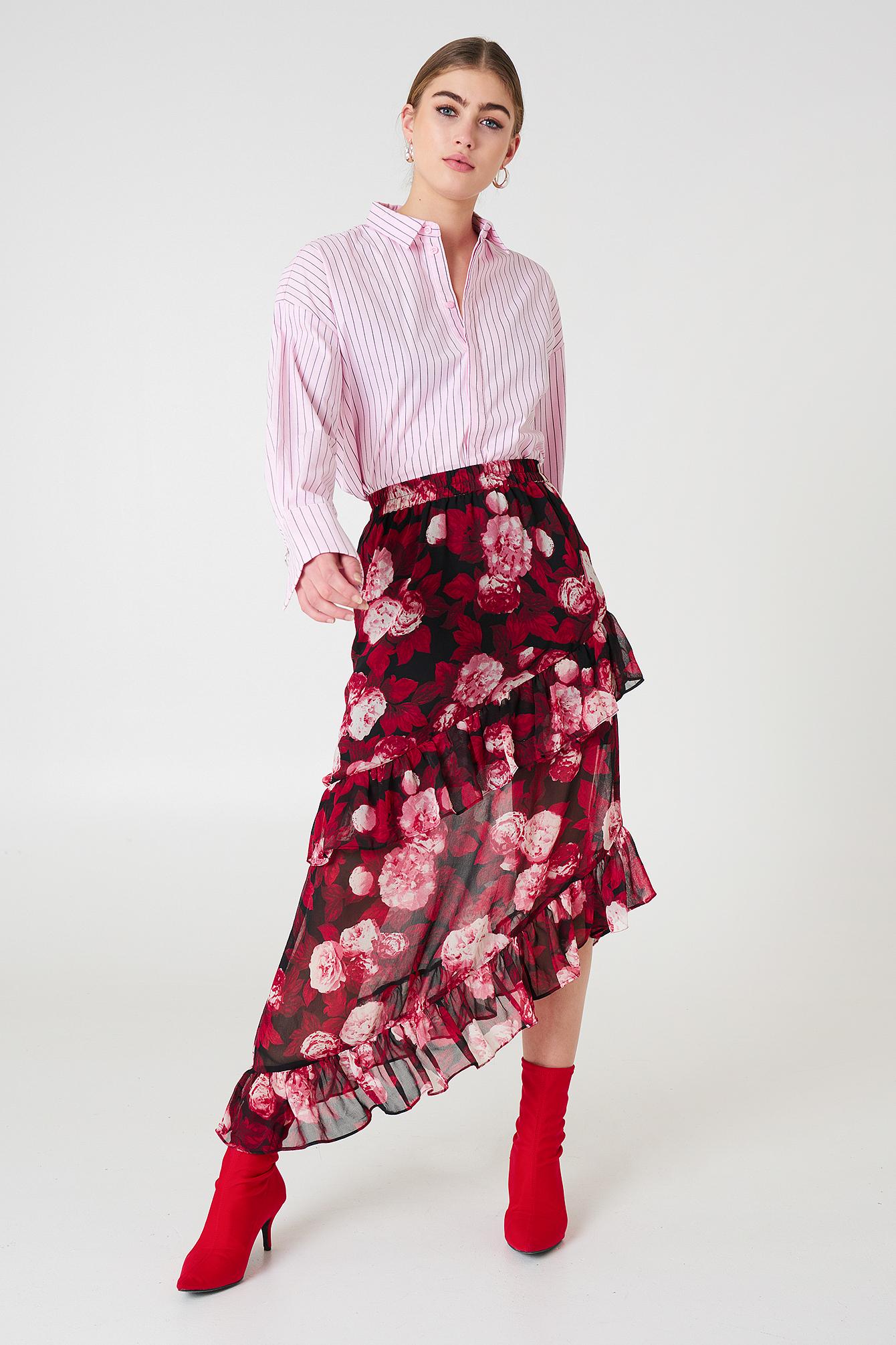 Asymmetric Flounce Skirt NA-KD.COM