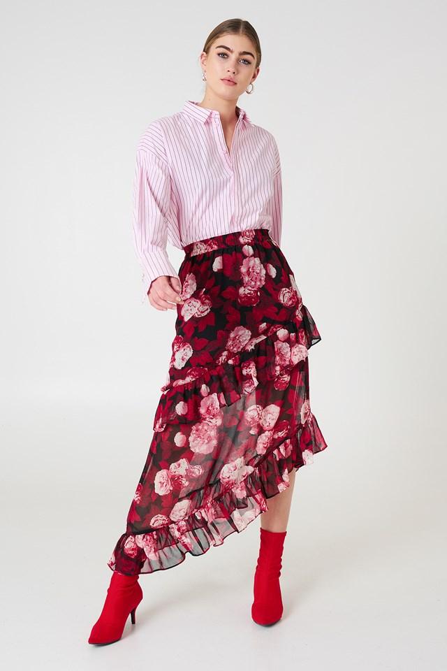 Asymmetric Flounce Skirt NA-KD Boho