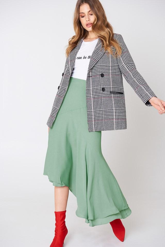 Asymmetric Block Skirt NA-KD.COM