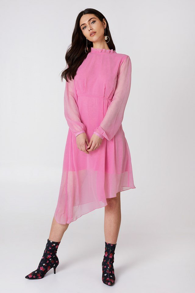 Asymmetric Cut Open Back Dress NA-KD.COM