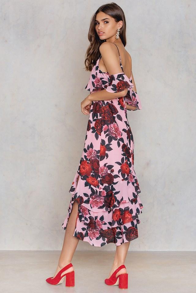 Asymmetric Frill Layered Dress NA-KD.COM