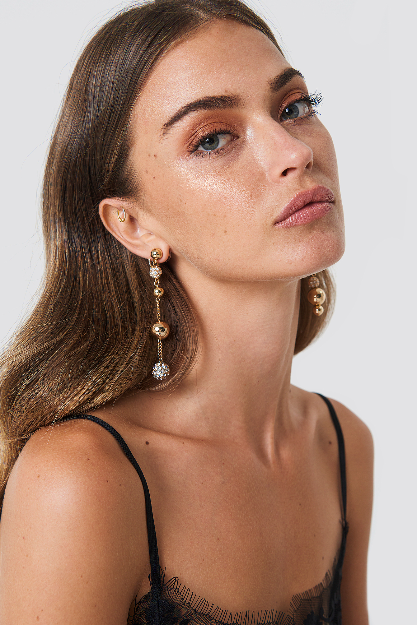 Asymmetric Hanging Globes Earrings NA-KD.COM