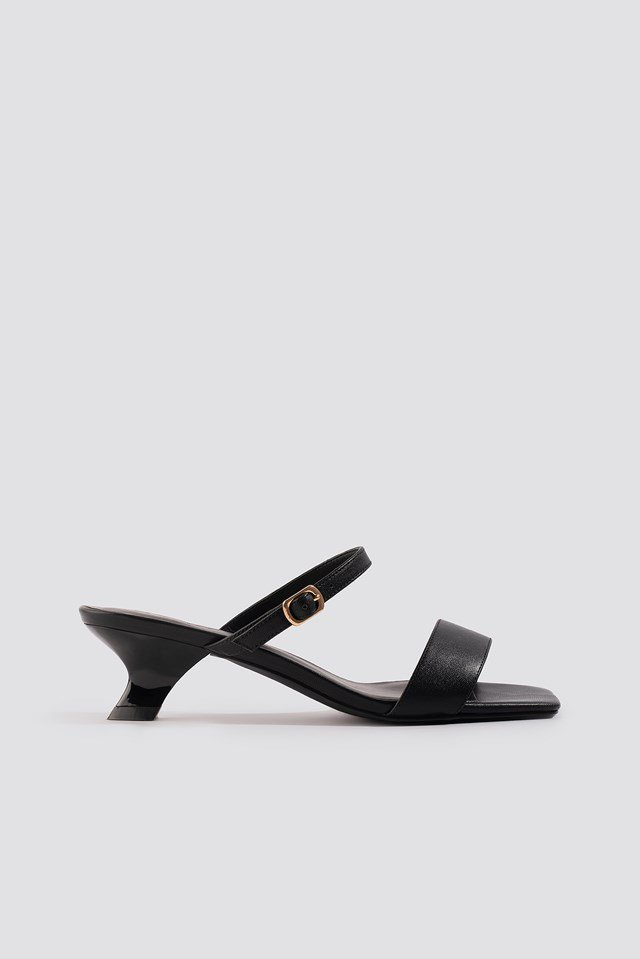 Asymmetric Heel Squared Sandals NA-KD Shoes