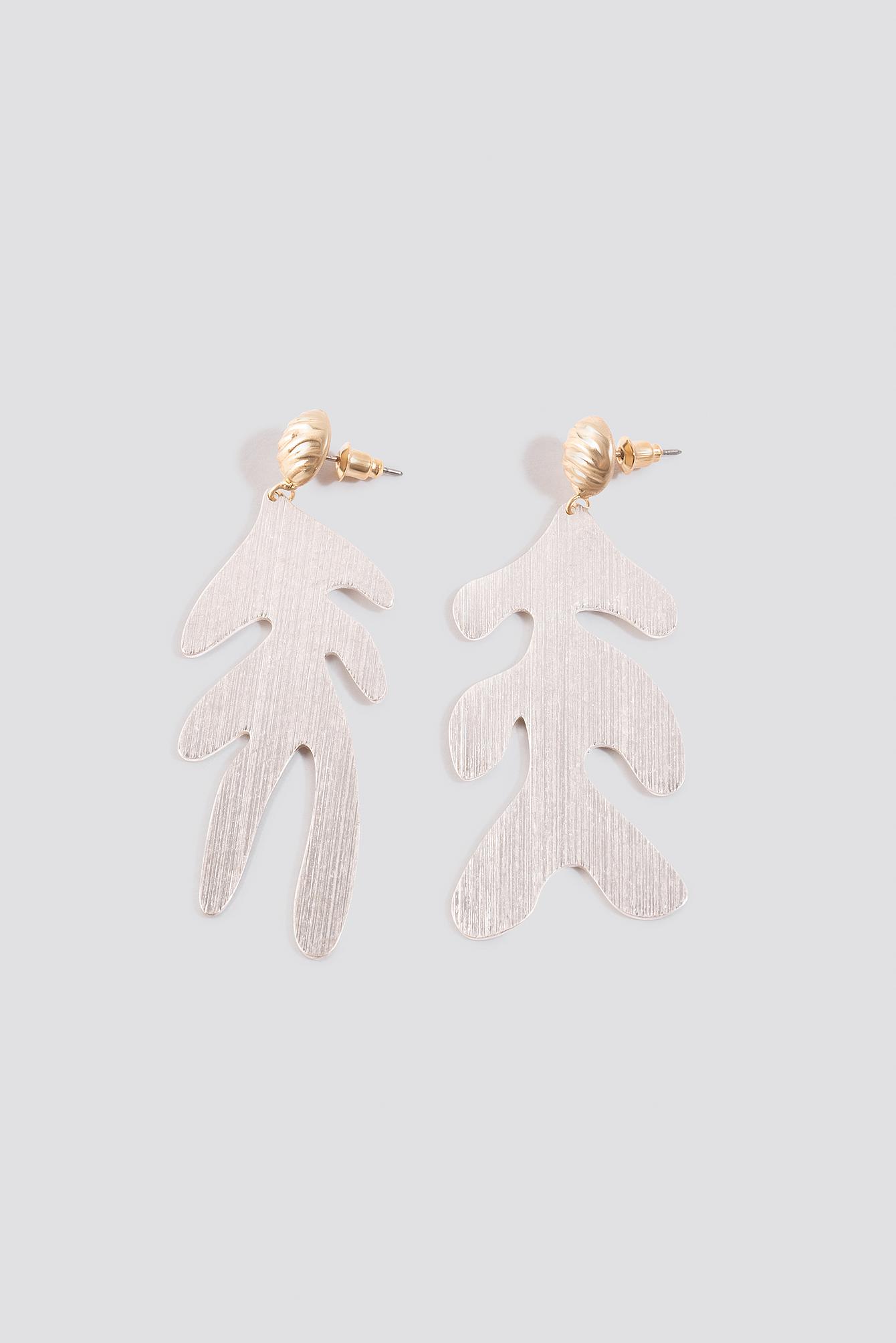 Asymmetric Leaf Earrings NA-KD.COM