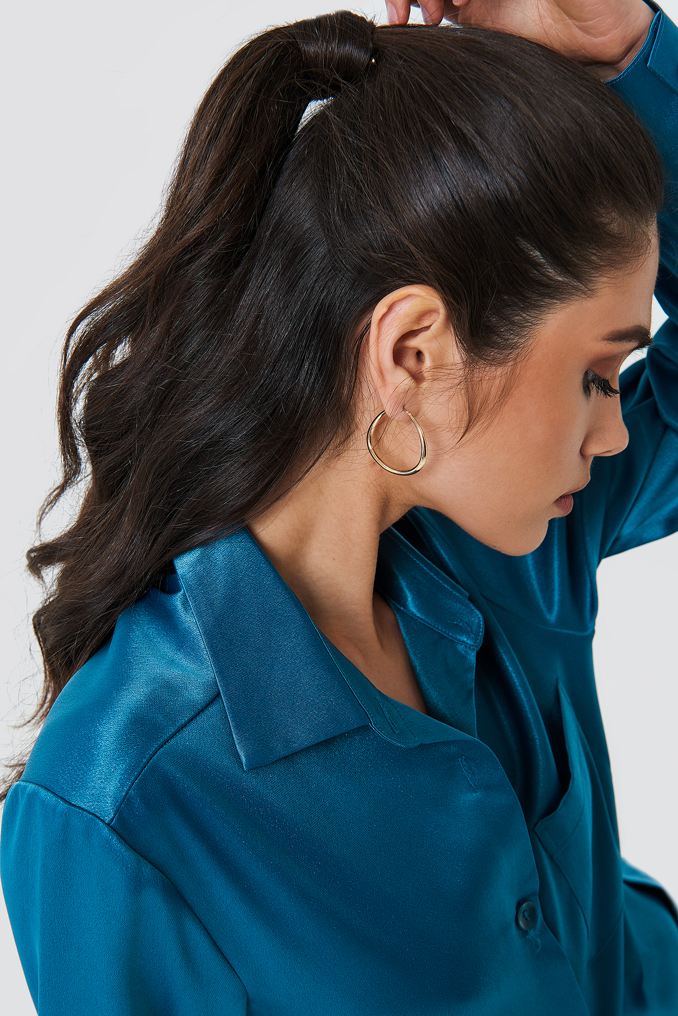 Asymmetric Mini Hoop Earrings NA-KD.COM