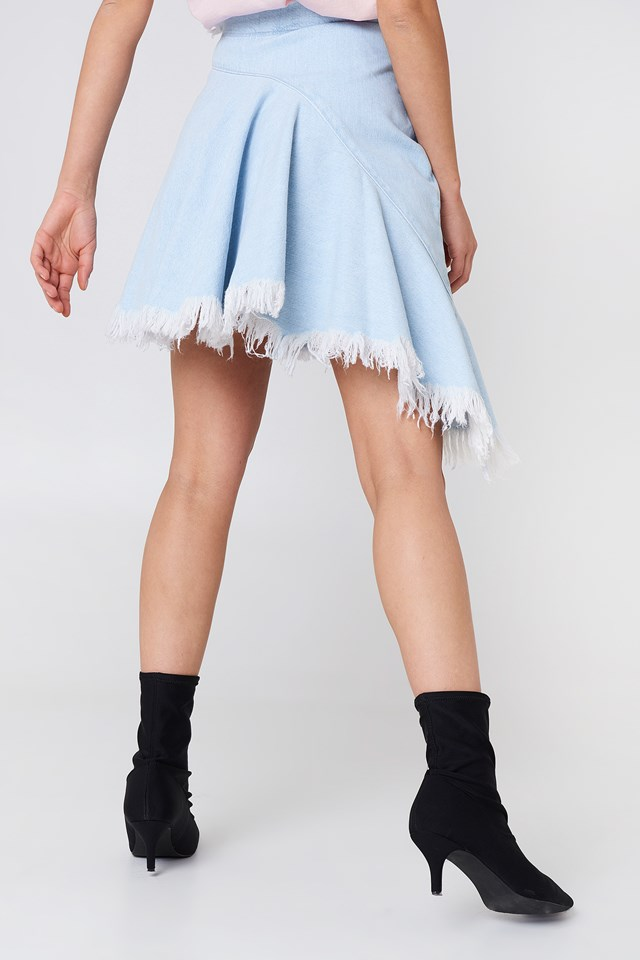 Asymetryczna jeansowa spódnica Light Blue
