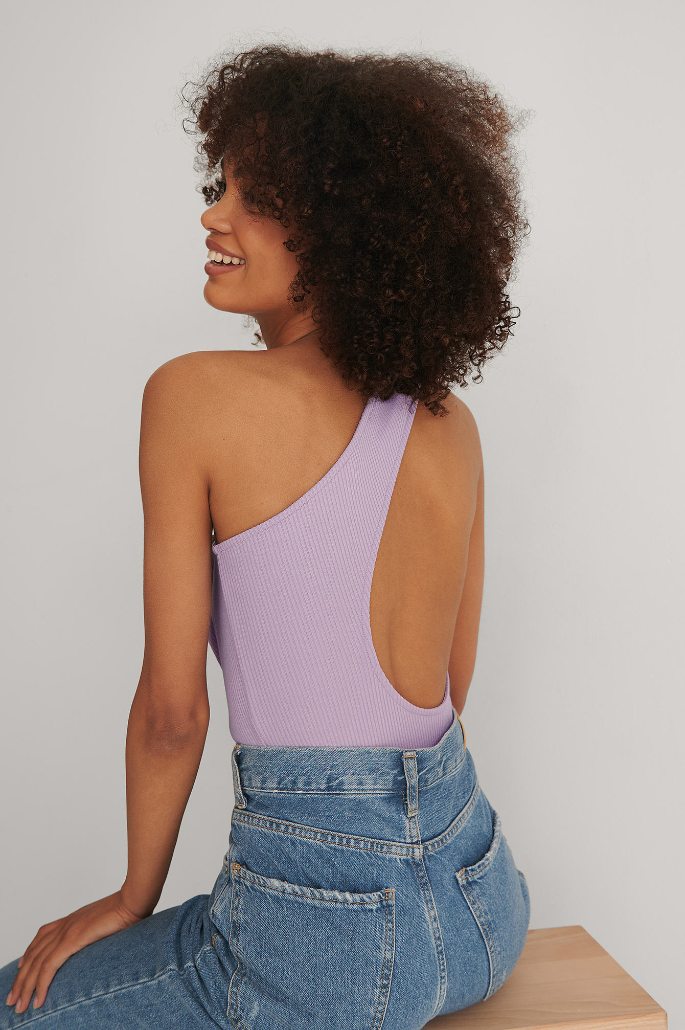 Purple Asymmetric Ribbed Body