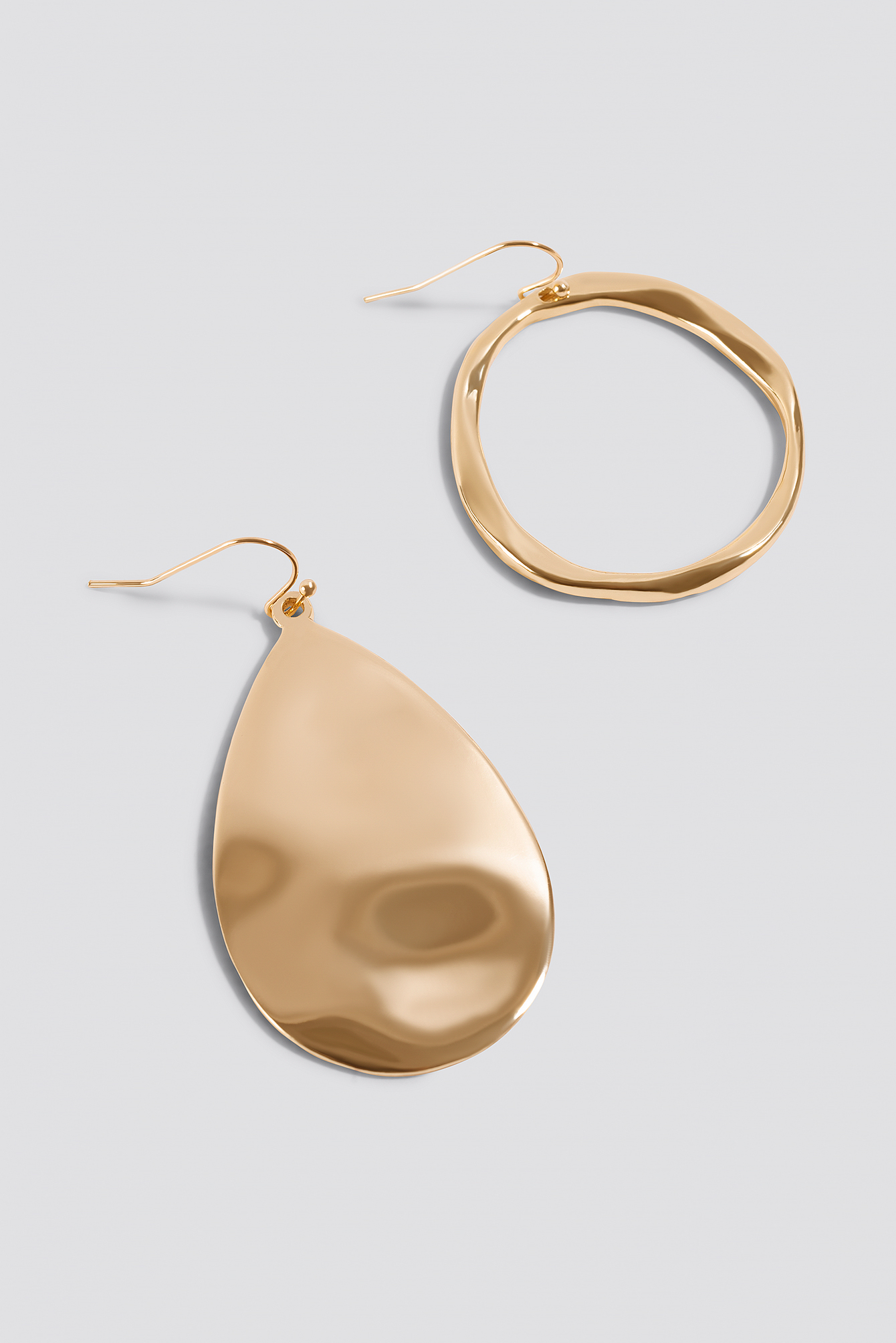 Asymmetric Ring and Plate Earrings NA-KD.COM